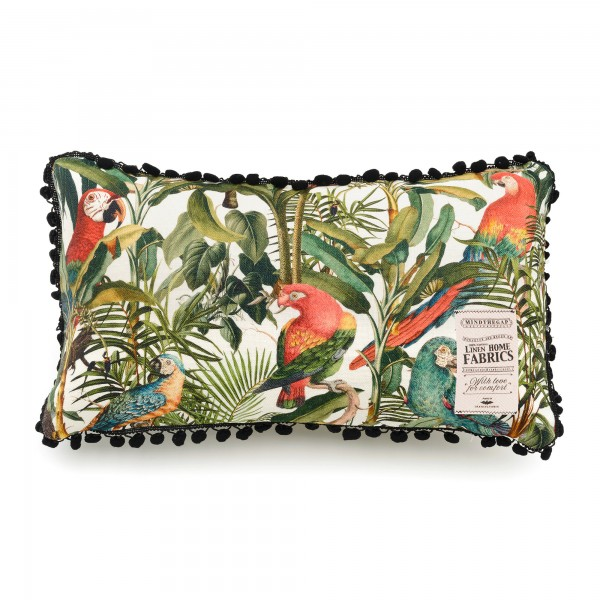 PARROTS OF BRASIL Linen Cushion