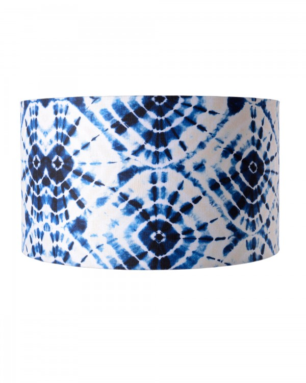 SHIBORI SWIRLS Drum Lampshade