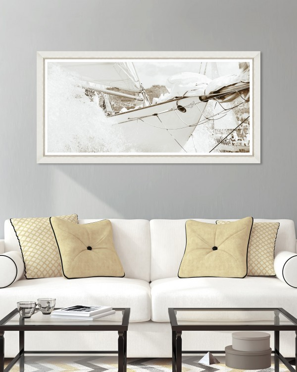 YACHTING SEPIA Framed Art
