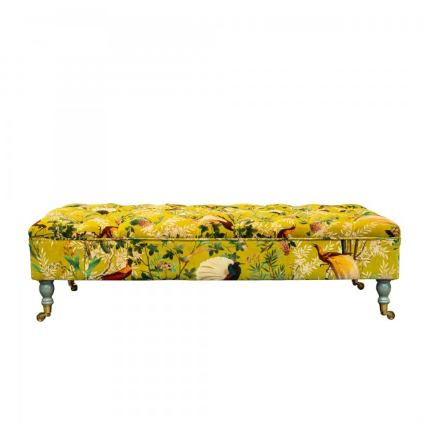SARAY OTTOMAN - ROYAL GARDEN Green Velvet