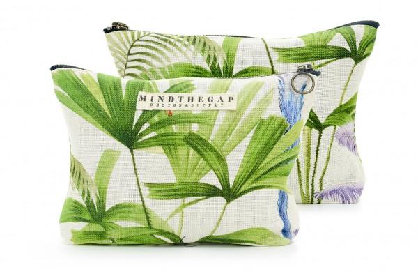 PALMERAS Linen Wash Bag