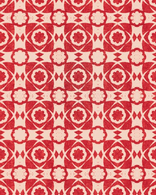 AEGEAN TILES Red Wallpaper
