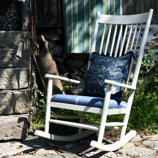 ARDMORE ROCKING CHAIR - KATALIN STRIPE Heavy Linen