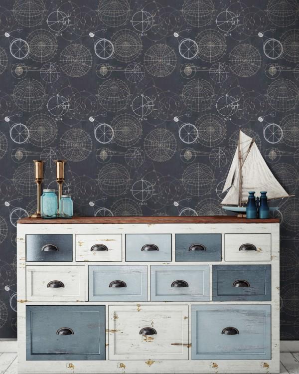 ASTRONOMY Blue Premium Wallpaper