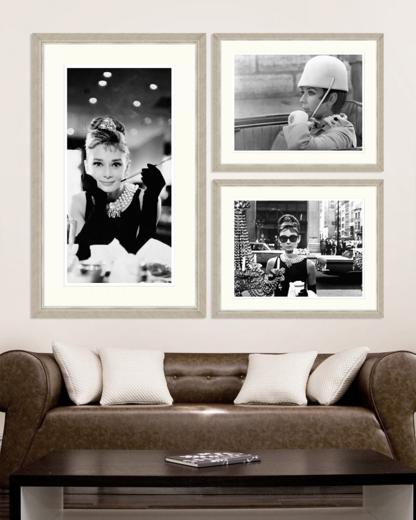 AUDREY HEPBURN Set Framed art