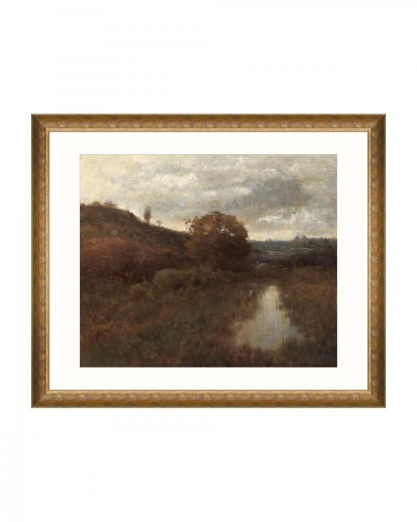AUTUMN LANDSCAPE BY A WYANT Framed Art