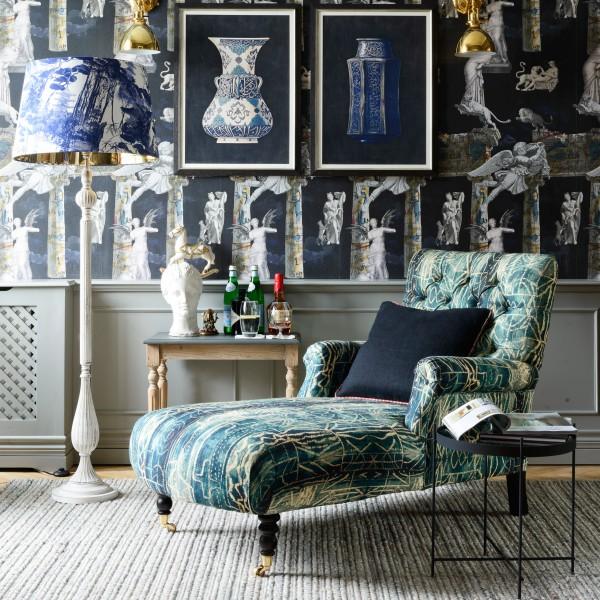 MADISON Chaise - BAMILEKE Linen