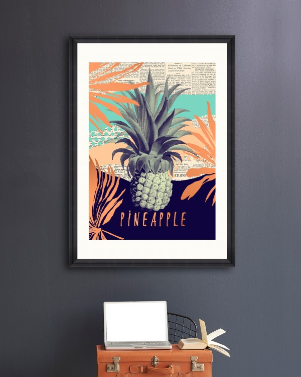 BE PINEAPPLE Framed Art
