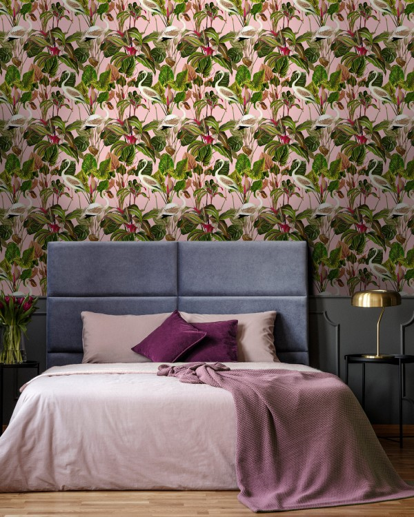 BEVERLY HILLS Pink Wallpaper