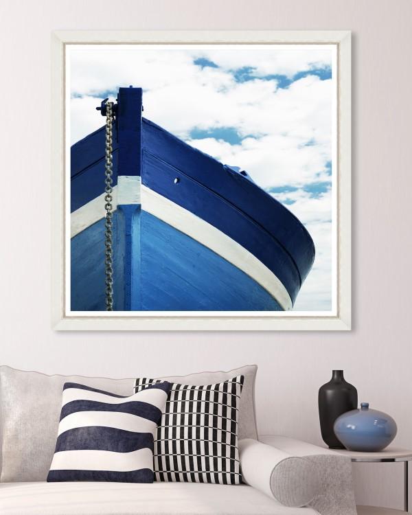 BLUE BOAT Framed Art