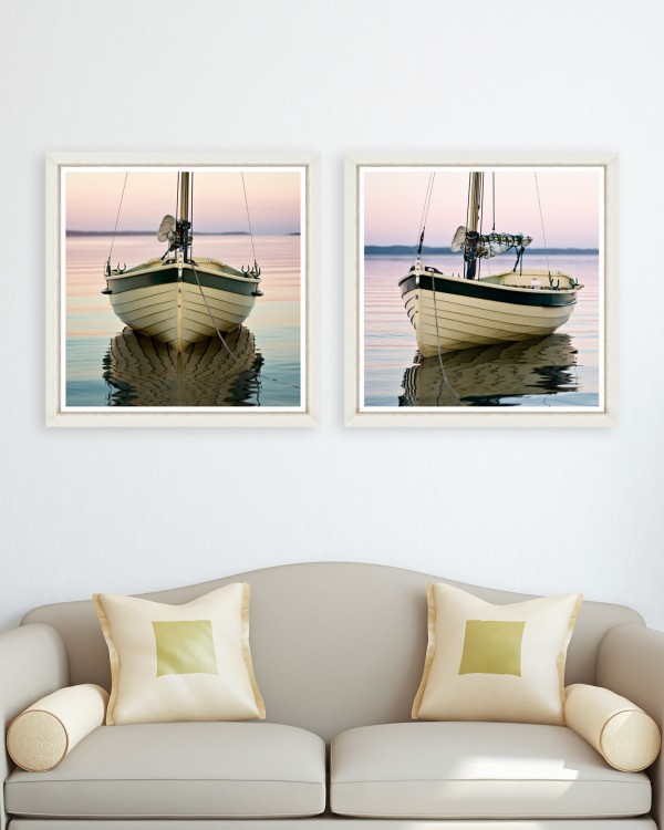 BOAT TRANQUIL Set of 2 Framed art