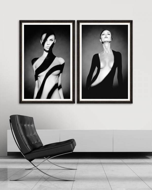 BODY SHADOWS Set of 2 Framed art