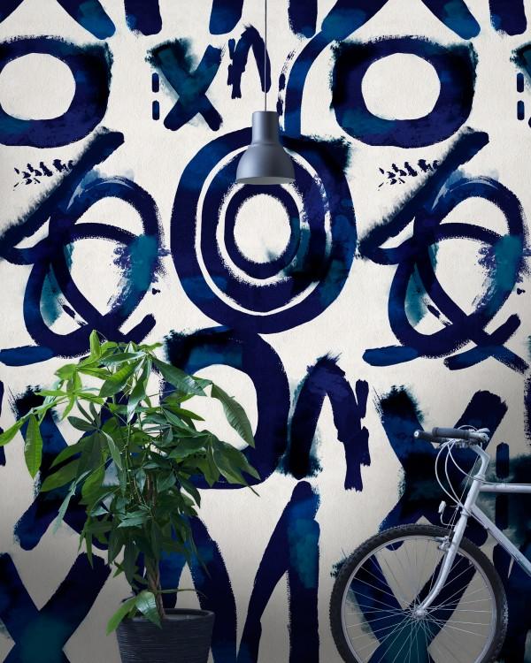 SPONTANEUS Blue Wallpaper