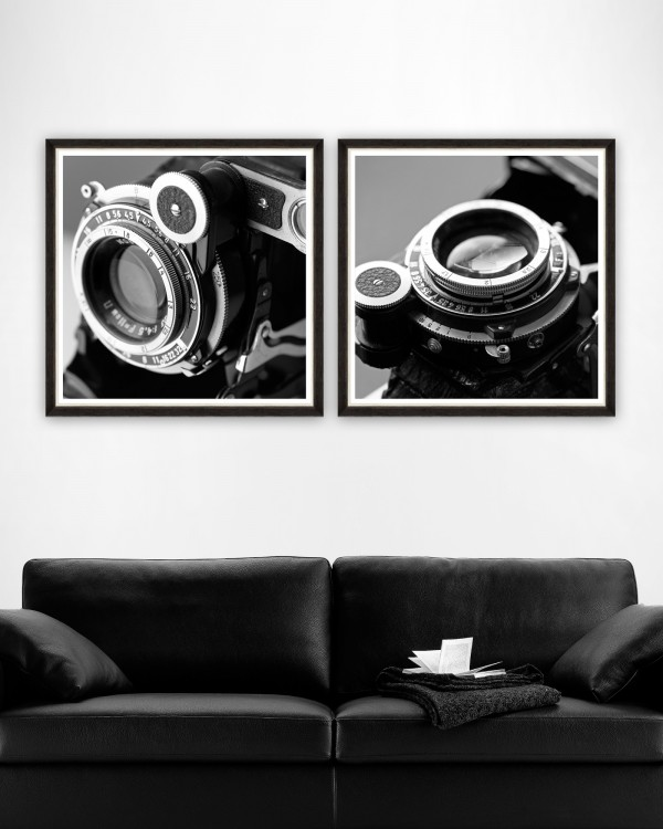 CAMERA DETAIL Set of 2 Framed art