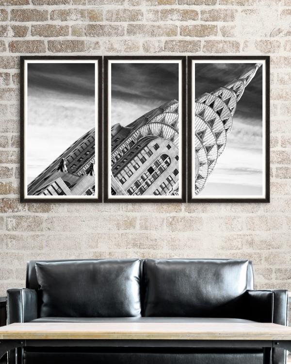 CHRYSLER BUILDING DETAIL Triptych