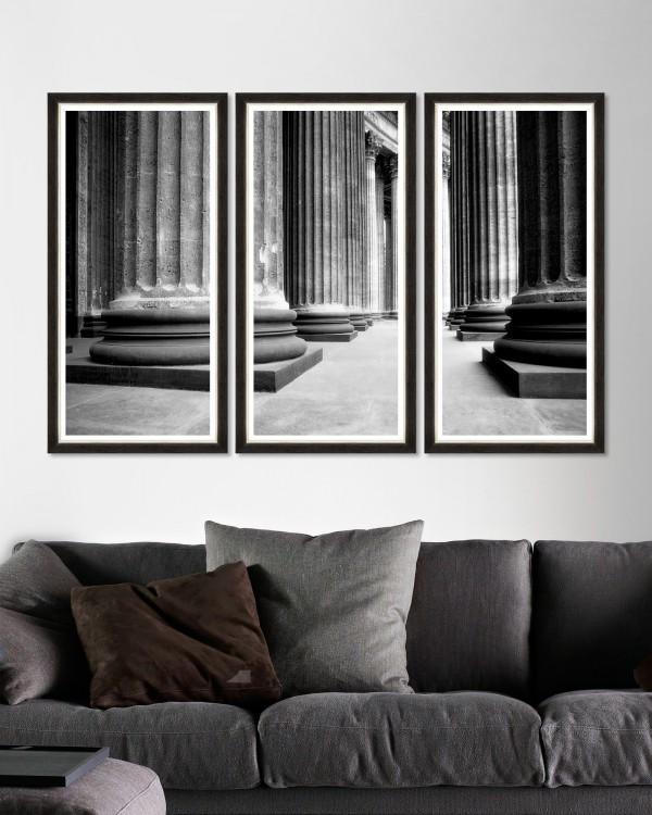 CHURCH COLONNADE Triptych