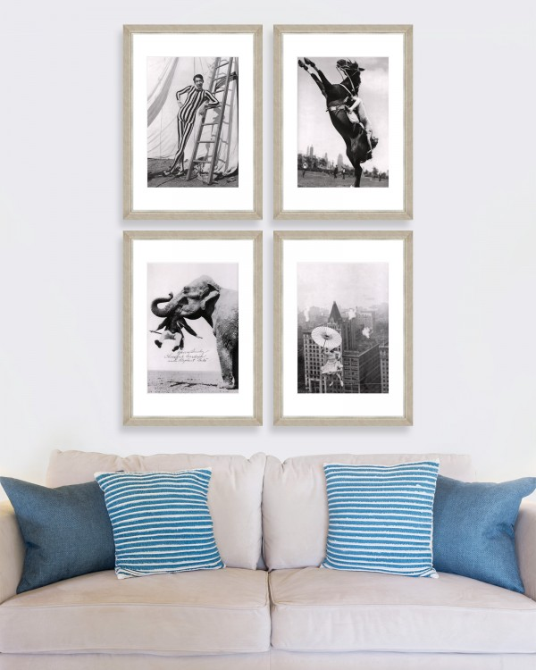 CIRCUS Set of 4 Framed art
