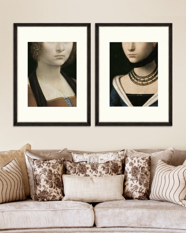 CLASSIC PORTRAIT DETAILS Set of 2 Framed art