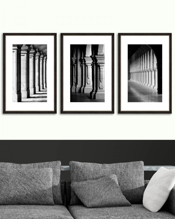 COLONNADE Set of 3 Framed art