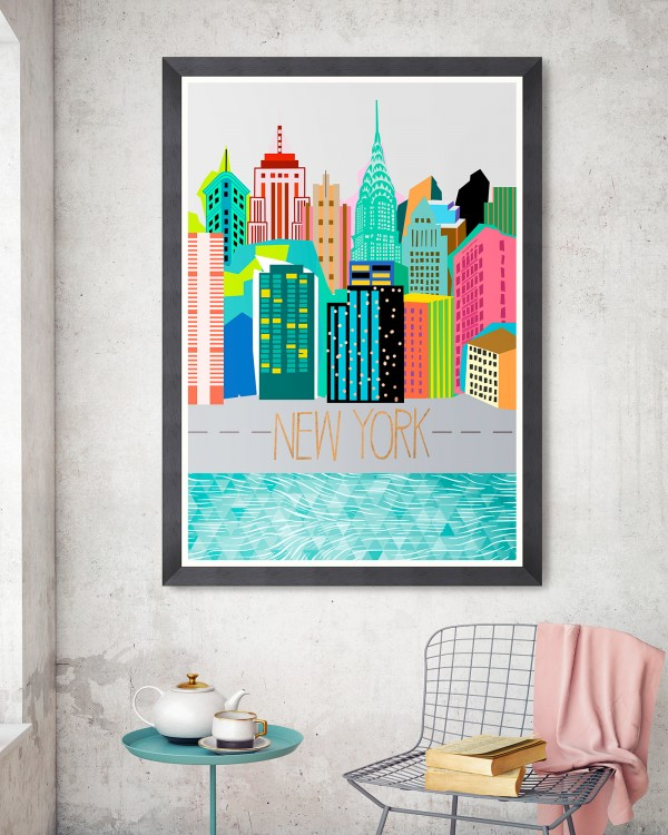 COLOURS OF NY Framed Art