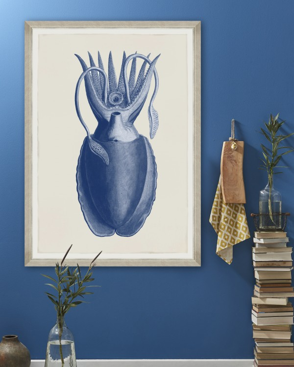 CUTTLEFISH BLUE BY SEBA Framed Art