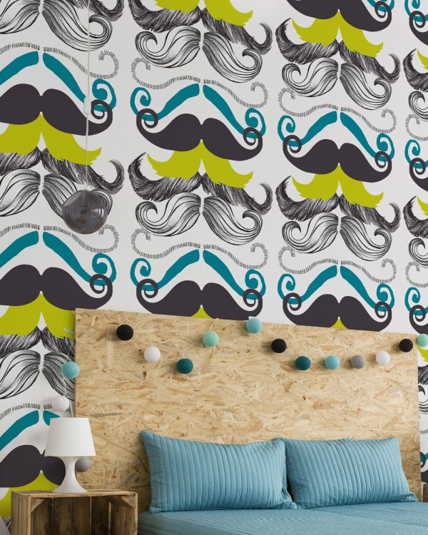 DIFFERENT MOUSTACHES Premium Wallpaper