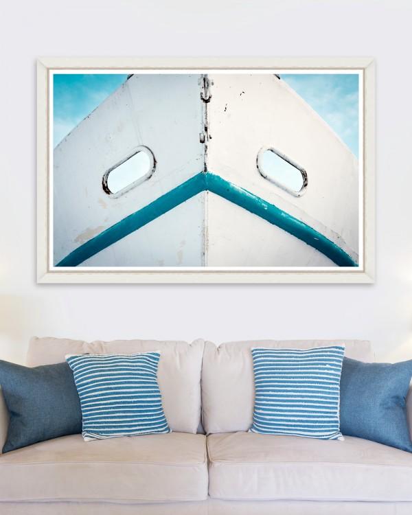 DIRTY WHITE BOAT Framed Art