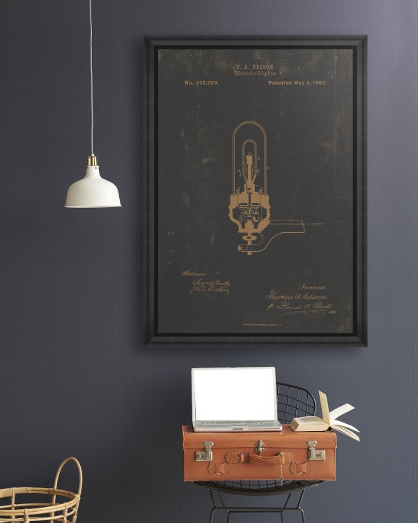 EDISON ELECTRIC LIGHT Framed Art