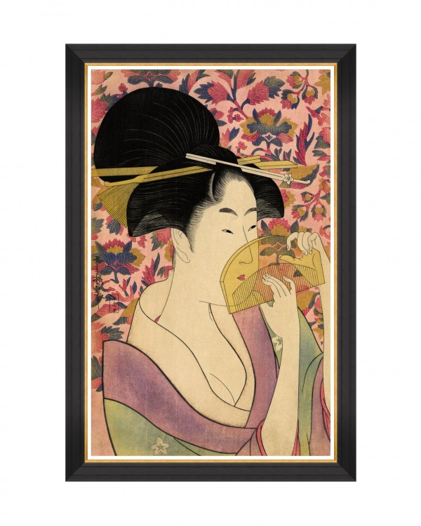 KUSHI BY KITAGAWA UTAMARO Framed Art