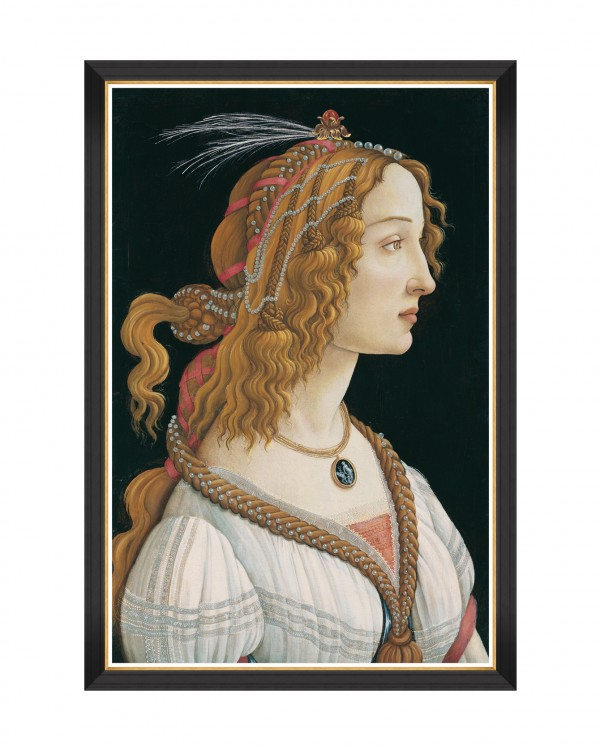 THE NYMPH BY SANDRO BOTTICELLI Framed Art