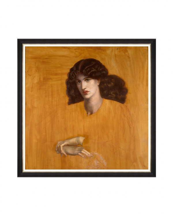 LA DONNA DELLA FINESTRA BY ROSSETTI Framed Art