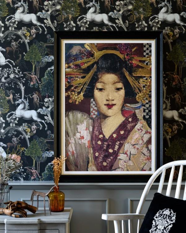 GEISHA GIRL BY GEORGE HENRY Framed Art