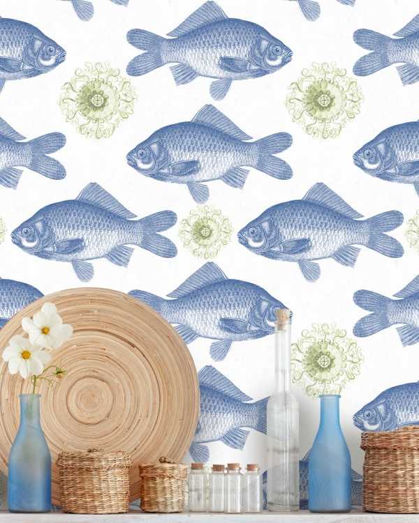 FISH Blue Premium Wallpaper