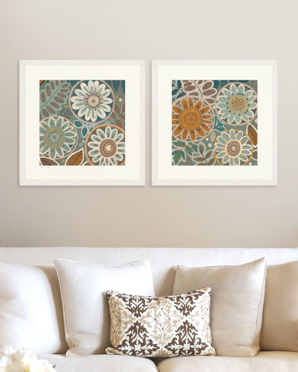 FLORAL Set of 2 Framed art
