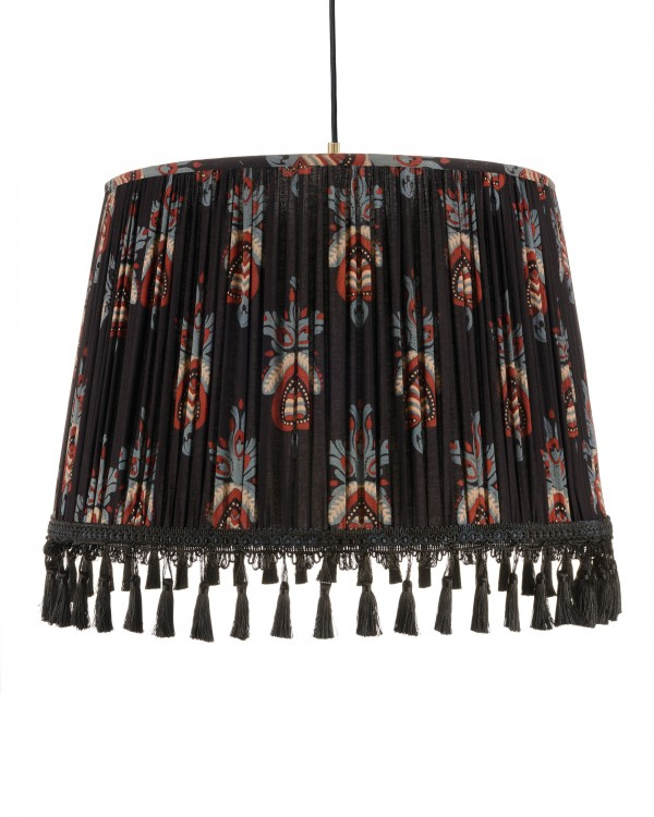 FLORAL CREST Pleated Pendant Lamp