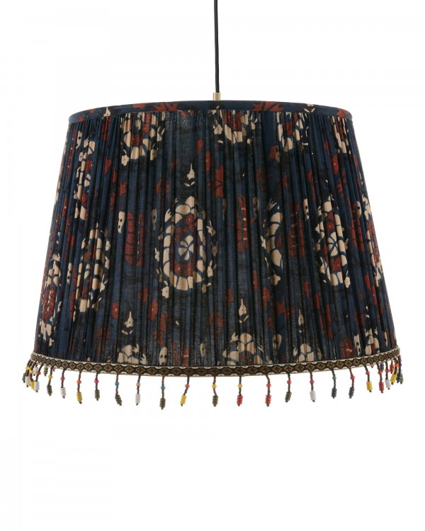 FLOURISH BLUE Pleated Pendant Lamp