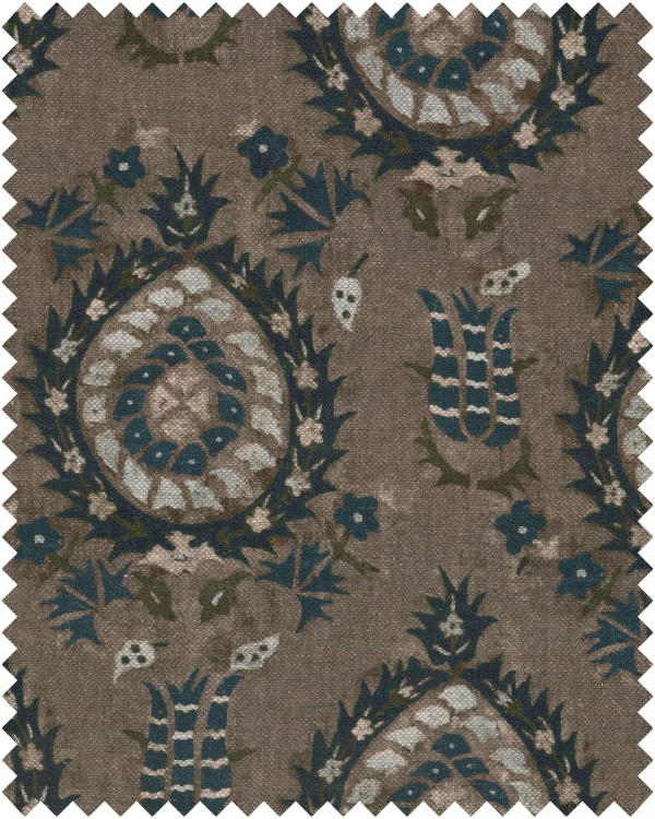 FLOURISH DAPPLE GREY Linen