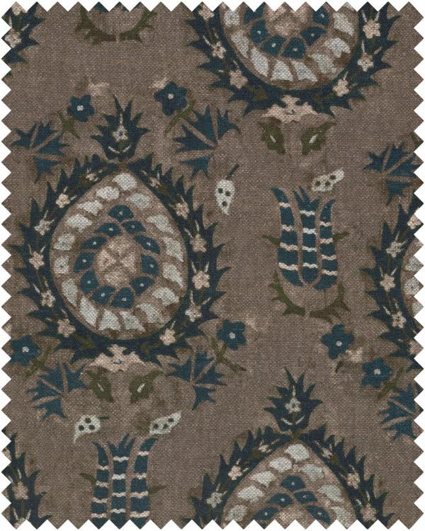 FLOURISH DAPPLE GREY Linen Sample