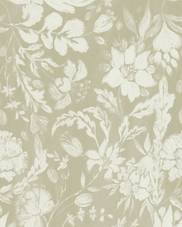 FLOWERY ORNAMENT Seedpearl Wallpaper