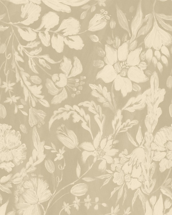 FLOWERY ORNAMENT Taupe Wallpaper