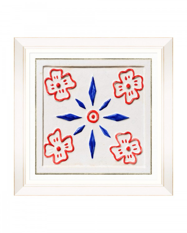 FOLK TILES II Framed Art