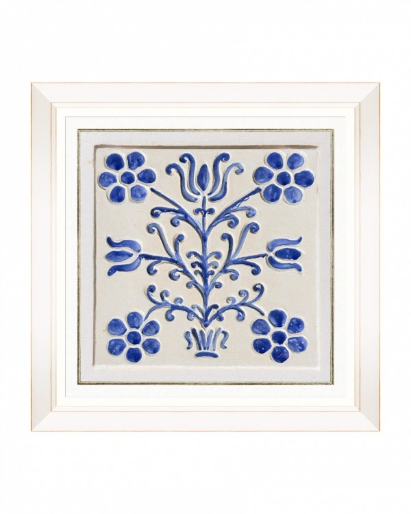 FOLK TILES V Framed Art