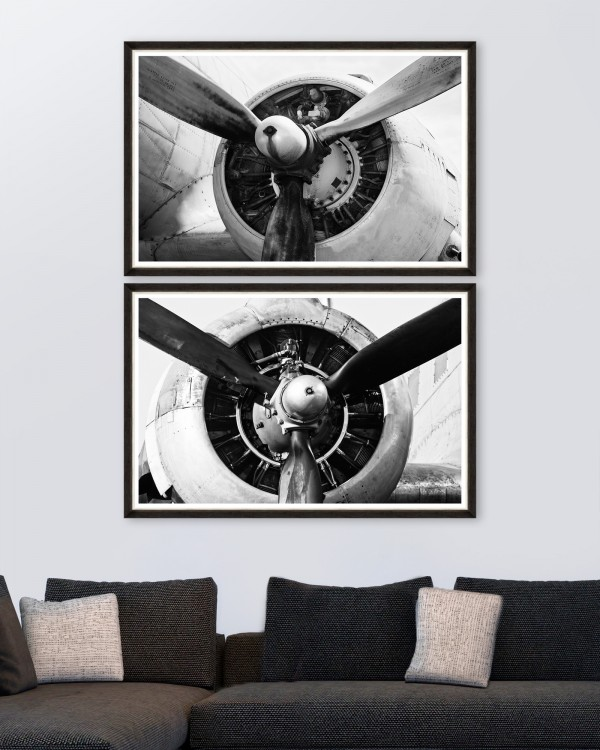 GIANT PROPELLERS Set of 2 Framed art