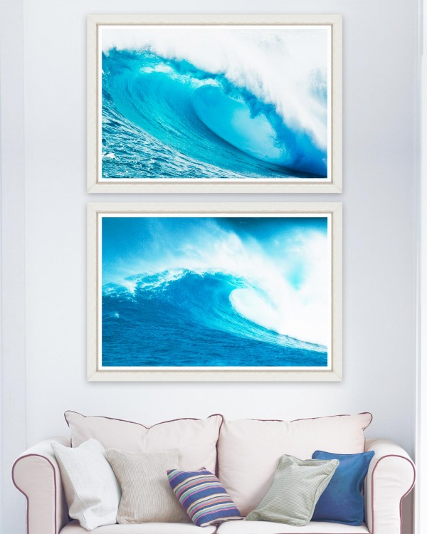 GIANT WAVES Set of 2 Framed art