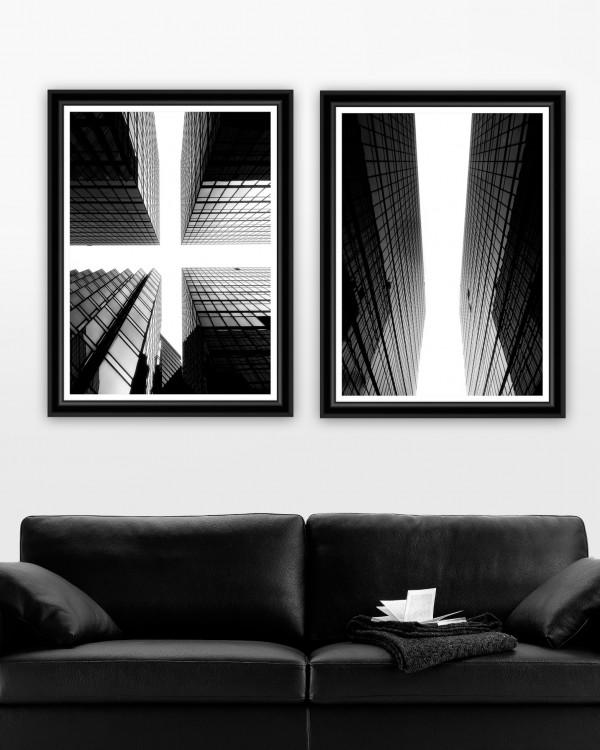 GLASS GIANTS Set of 2 Framed art