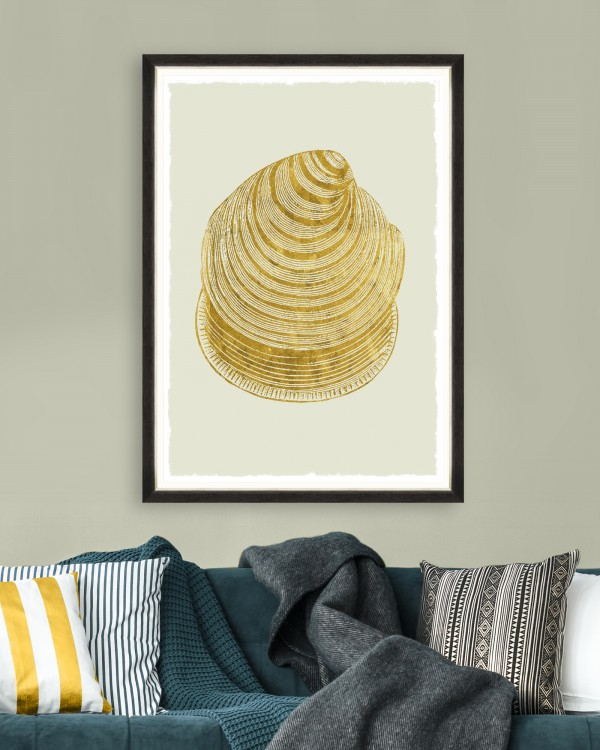 GOLDEN SEASHELL I Framed Art