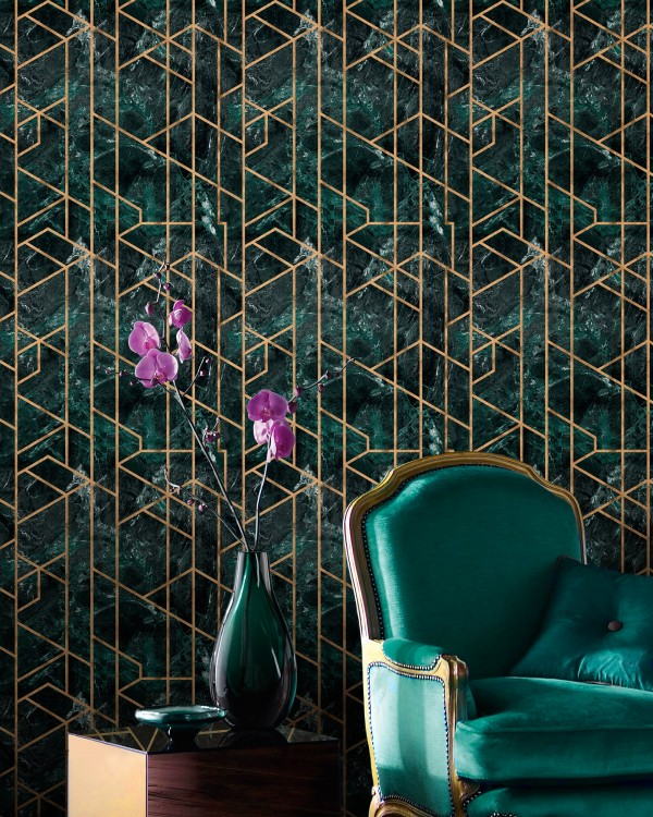 GRAMERCY Emerald Metallic edition Wallpaper