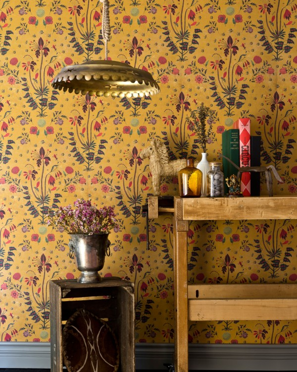 GYPSY Ochre Wallpaper