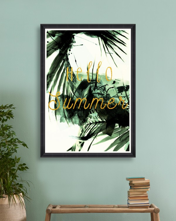 HELLO SUMMER Framed Art