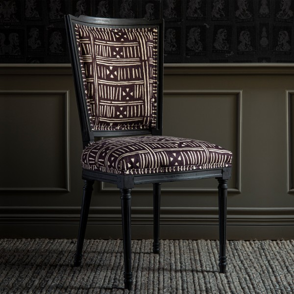PROVENCE DINING CHAIR - Bogolanfini Linen